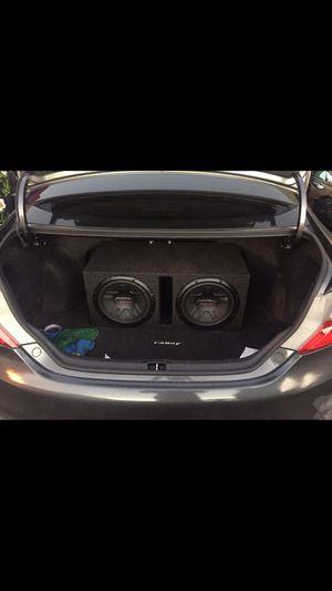 2 pioneer subwoofer speakers champion series + 2400 W amplifier pioneer champion series for Sale in San Francisco, CA