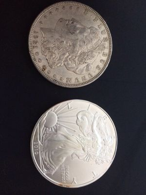 Choice of $1 Silver Eagle or $1 Silver Dollar for Sale in Houston, TX
