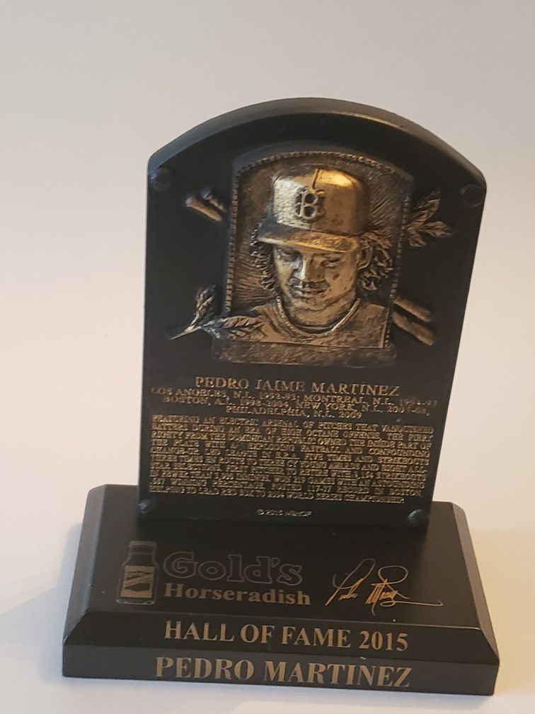 Pedro Martinez Hall Of Fame 2015 Mini Plaque
