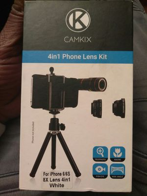 Camkix 4 in 1 phone lens kit for Sale in Washington, DC