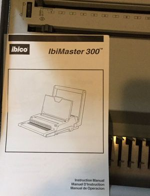 IBICO IBIMASTER 300 Binding Machine for Sale in Normandy Park, WA - OfferUp