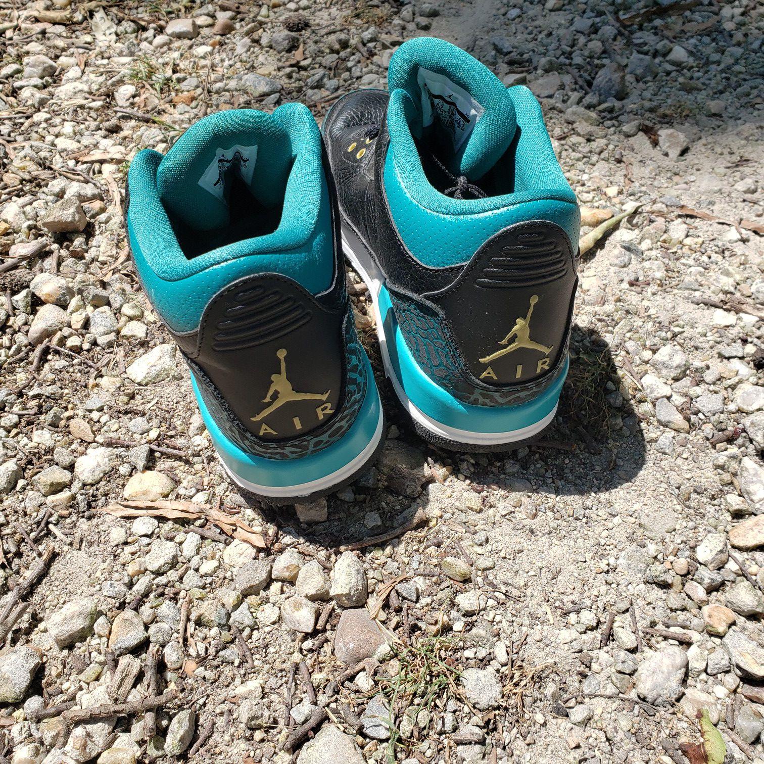 Air Jordan 3s (black & teal)