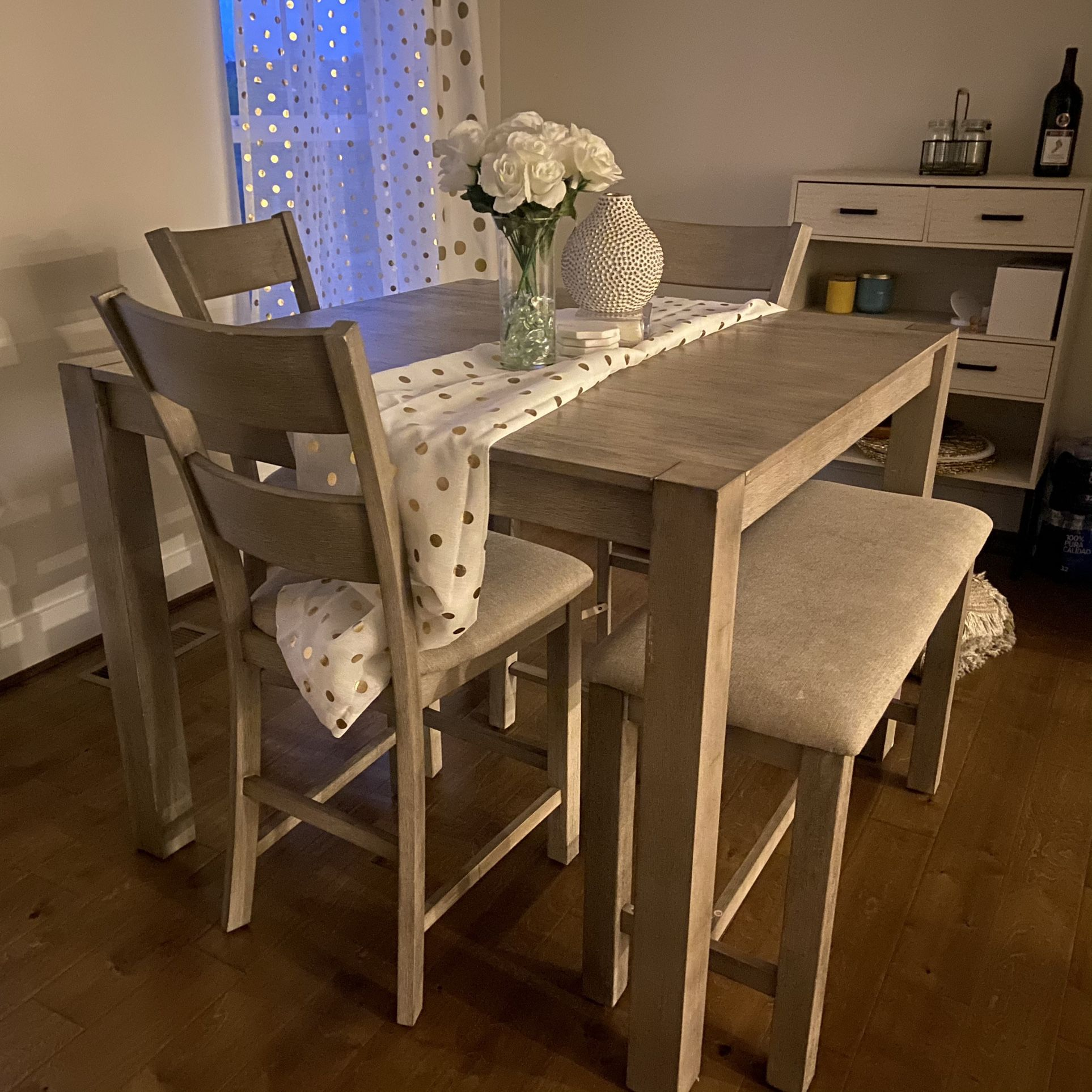 Square High Dining Table (sits 8)