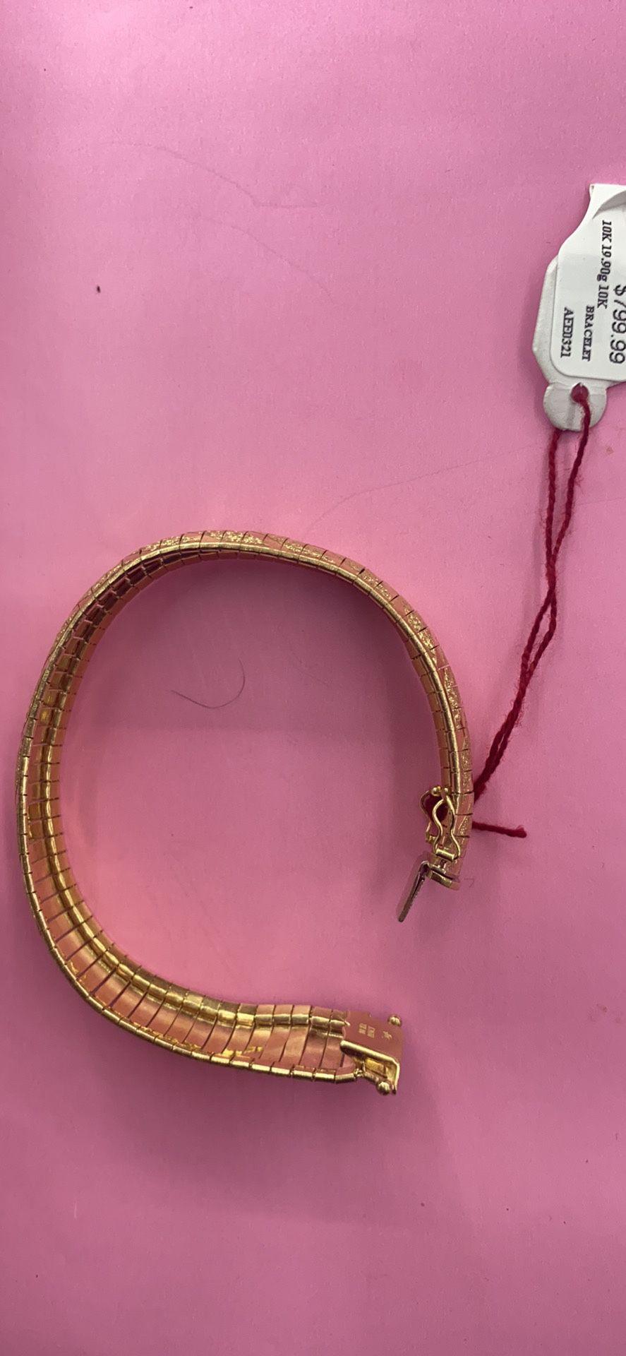 """10K 19.9g Herringbone Bracelet 71/2"""""""