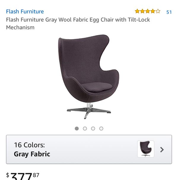 Flash Furniture Gray Wool Fabric Egg Chair With Tilt Lock Mechanism For In Fresno Ca Offerup