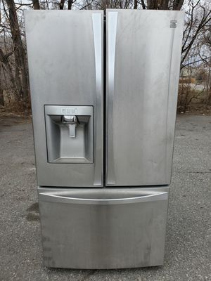 Photo Kenmore stainless steel fridge good working conditions