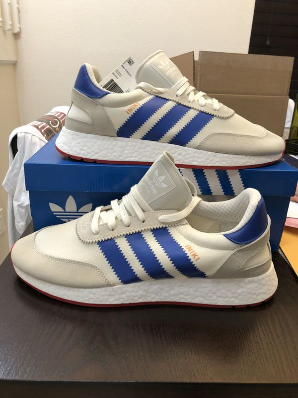 Men s ADIDAS Iniki Runner Pride of the 70 s USA BB2093 Off White    Collegiate Royal   Core Red Size 12 Shoes New w  Box 353420cf04d1