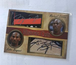 Photo Rare Kobe Bryant / Michael Jordan Signed Auto Card