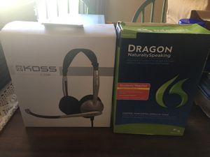 Dragon Software with Headset for Sale in Olympia, WA