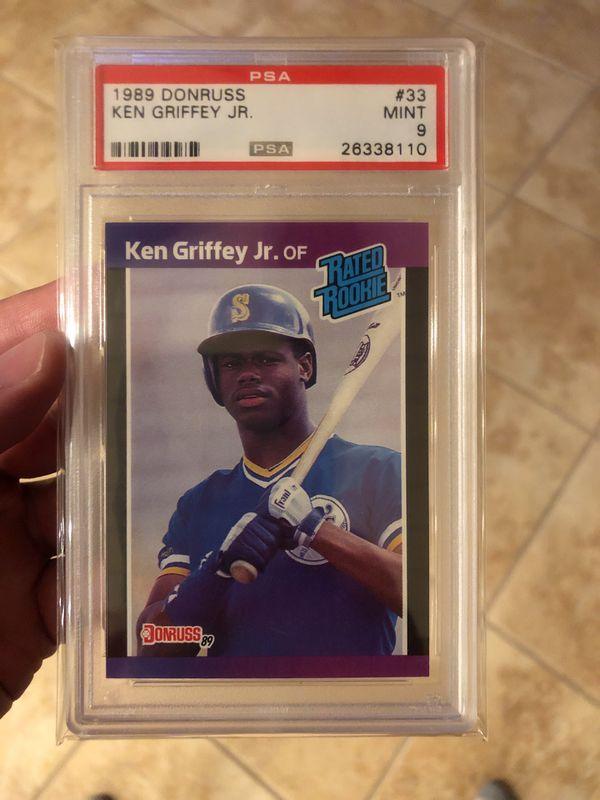 87a5a021c2 1989 & 1990 Ken Griffey Jr RC Card Lot (9 Cards) PSA 8 & 9 Mint Fleer  Dondruss
