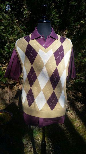 Ben Hogan argyle vest & performance polo TPC Potomac at Avenel Farm logo size medium NEW! for Sale in Montgomery Village, MD