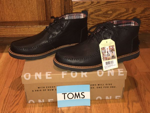 a6e20f80df0 BRAND NEW TOMS 10006537 MEN'S BLACK FULL GRAIN LEATHER CHUKKA BOOTS SIZE 12  for Sale in Puyallup, WA - OfferUp