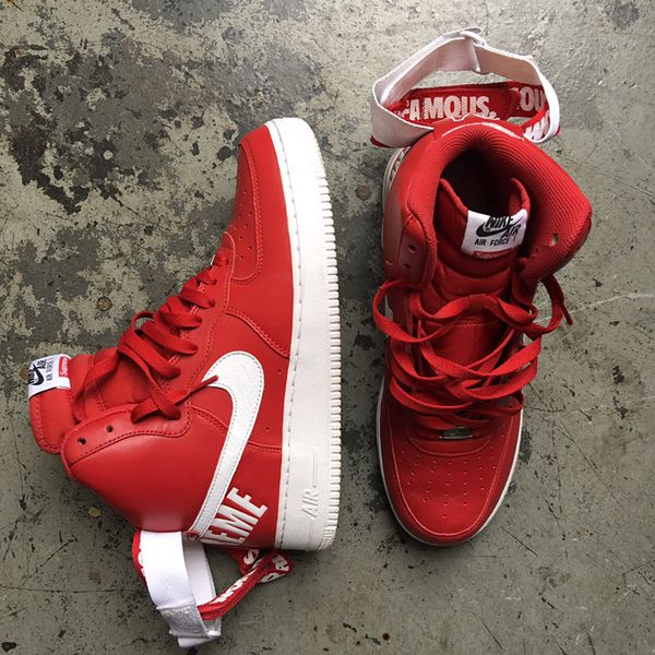 supremo nike air force x 1 red sz 10 af 1 af1 flavs flaves uptowns