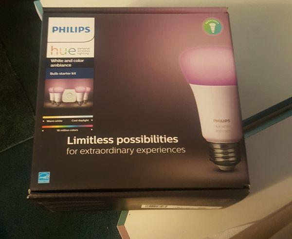 Philips Hue Smart Bulb, 4 pak, Starter Kit for Sale in Hemet, CA - OfferUp