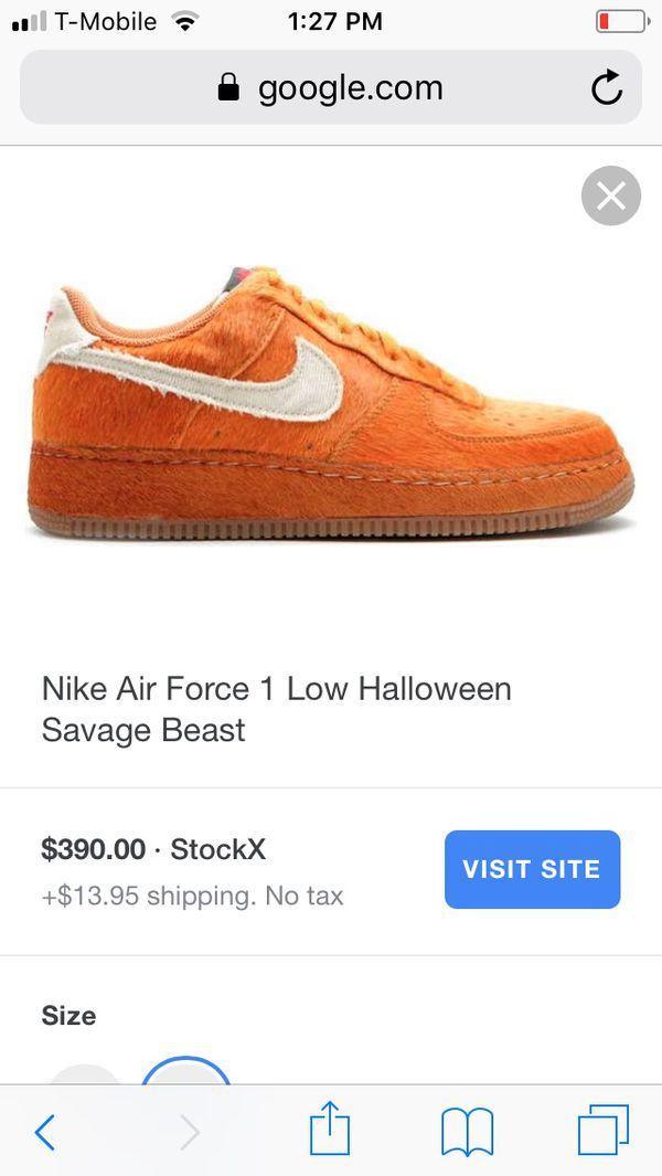 free shipping 6b8b0 9ff78 RARE NIKE!! (Savage beast ) Halloween AF1 s