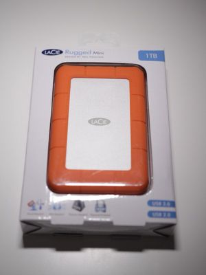 LaCie 1 TB rugged hard drive for video editing, music and photography! for Sale in Miami, FL