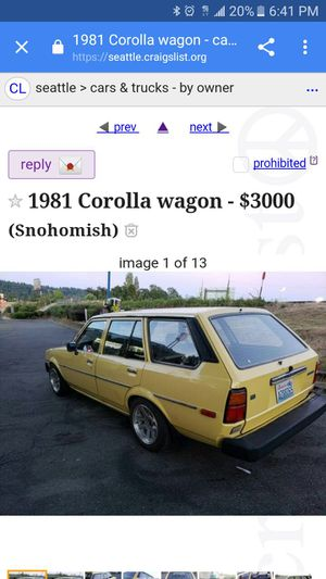 Craigslist Seattle Cars By Owner >> 1980 Toyota Corolla For Sale In Seattle Wa Offerup
