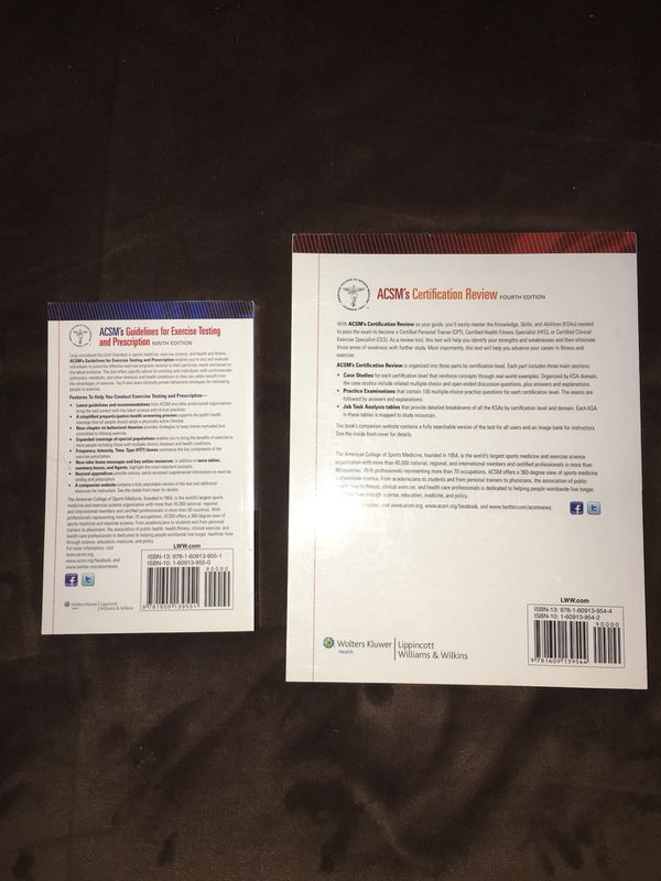 Acsm Personal Training Certification Book Books Magazines In