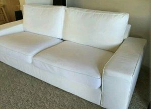 Ikea kivik white sofa very comfy - CAN DELIVER for Sale in Falls Church, VA