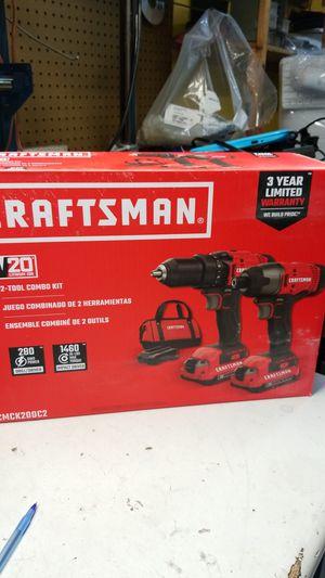 Photo Craftsman drill set 20vlt lithium