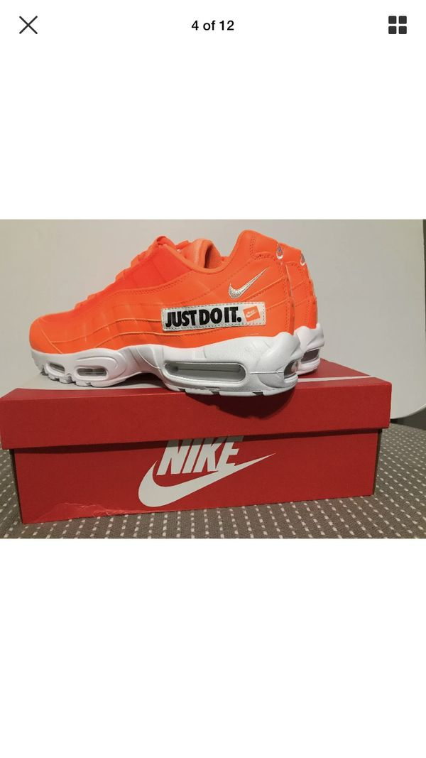 buy online 49be0 94902 Nike Air Max 95 Just Do it Orange/White/Black AV6246-800 Size Mens 10.5  Wmns 12 for Sale in Tallahassee, FL - OfferUp