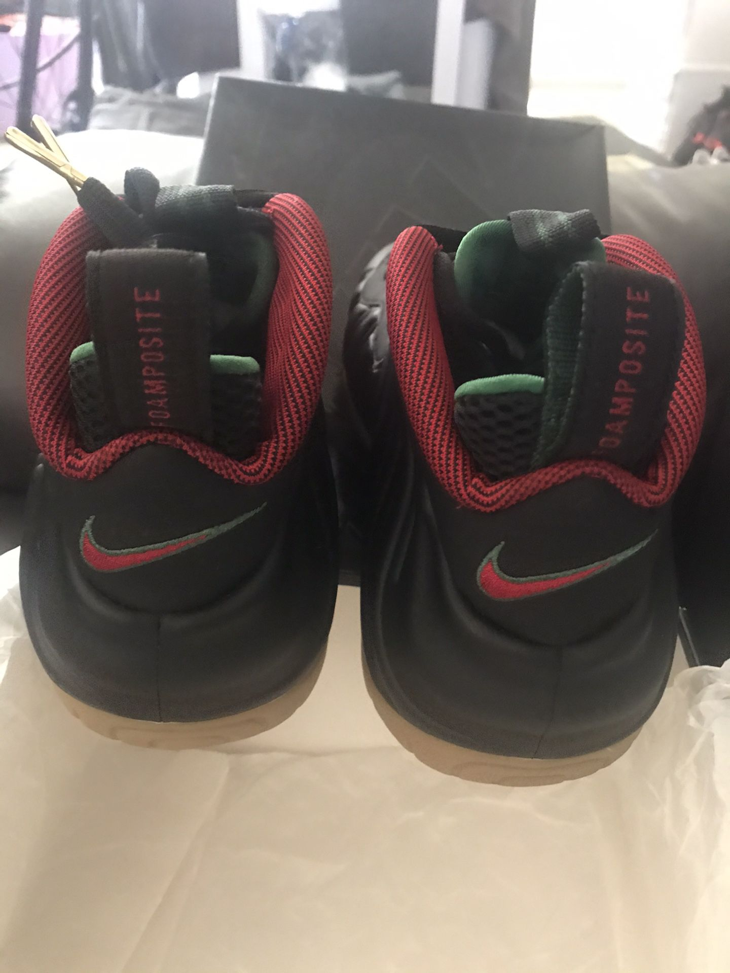 Gucci foamposite size 8.5 very nice shoes asking 350$ serious buyer only