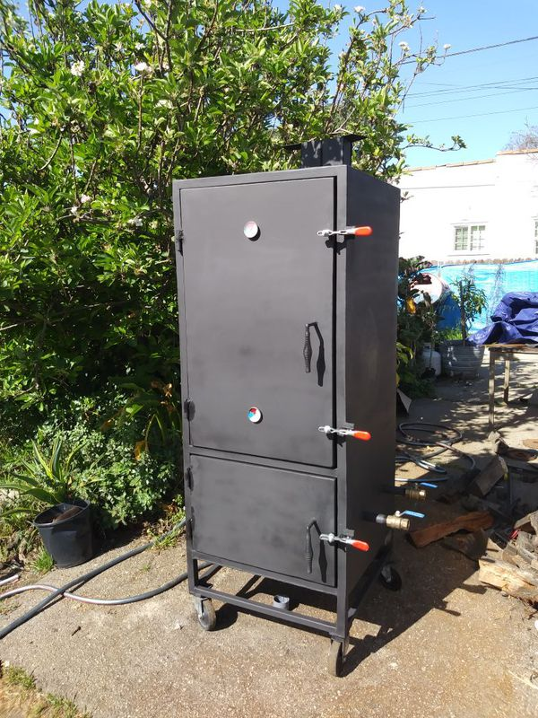 Vertical Reverse Flow Insulated Bbq Smoker For Sale In