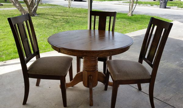 Dining Room Table With Three Chairs
