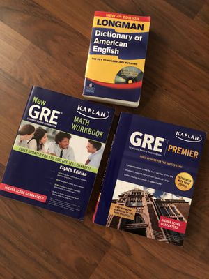 GRE books + dictionary for Sale in Pittsburgh, PA
