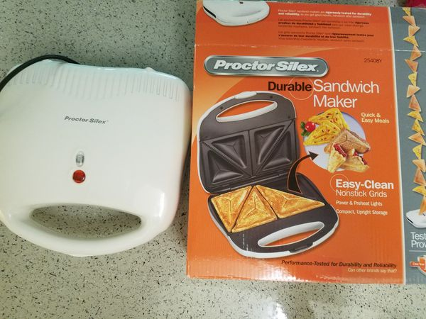 NEW Proctor Silex 25408 Sandwich Toaster Nonstick Easy-Clean Grids