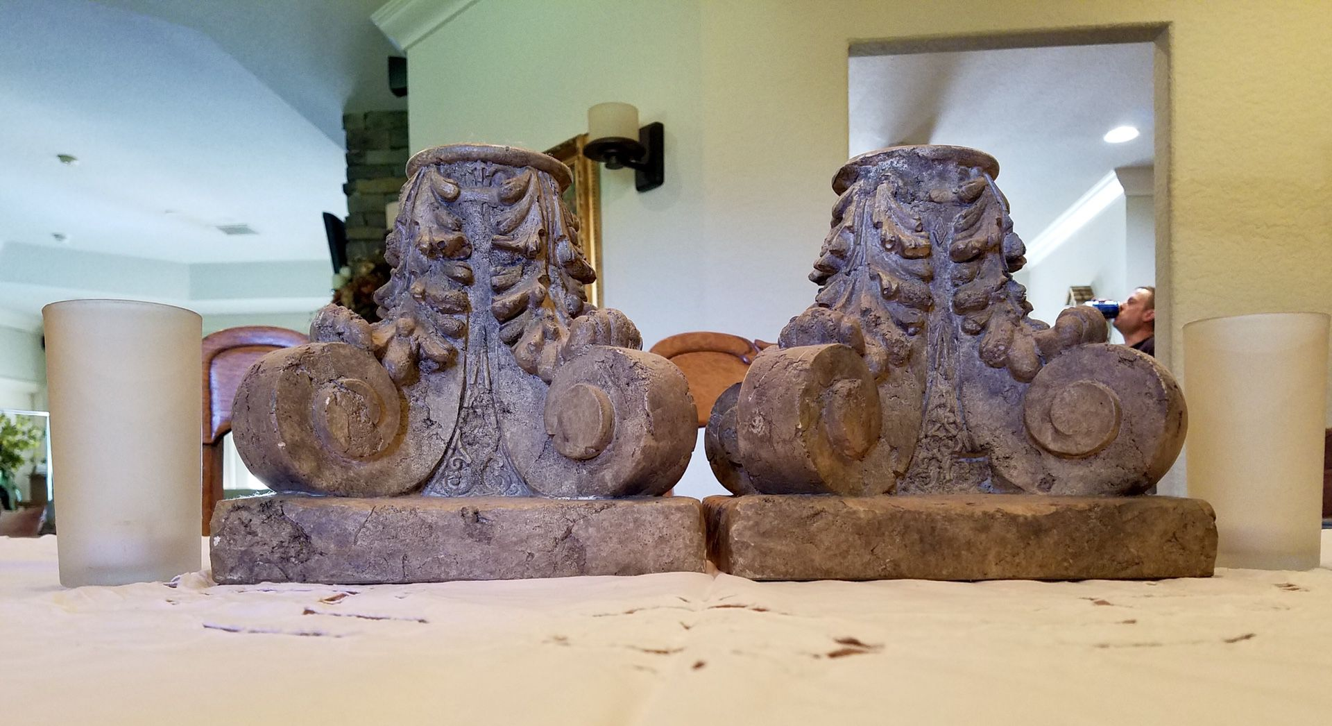 Resin Candle Holders w/ Chimneys