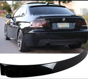Photo Trunk Rear Spoiler and Rear Roof Spoiler Fits 07-13 E BMW E92 TYPE COUPE Painted Black Sapphire Metallic.