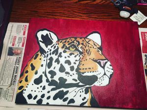 Leopard painting for Sale in Pittsburgh, PA