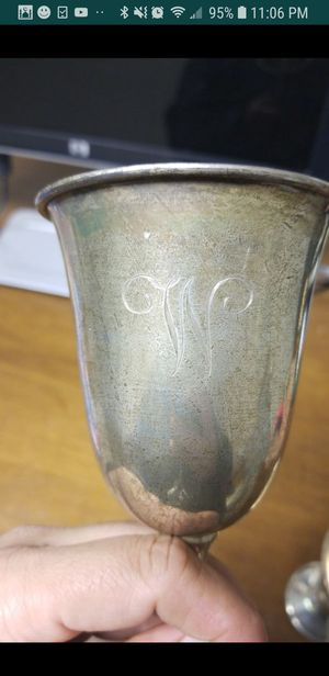 STERLING SILVER DRINKING GOBLETS for Sale in West Springfield, VA