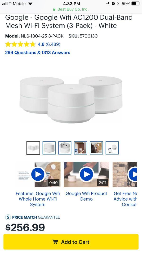3 pack google WiFi for Sale in San Antonio, TX - OfferUp