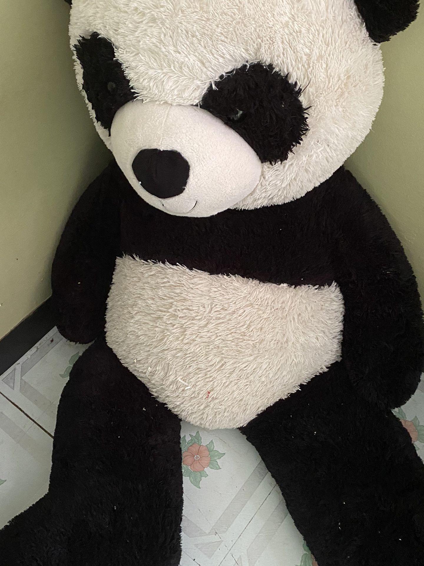 Large Panda Bear Black And White