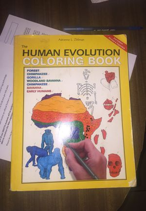 The Human Evolution Coloring Book for Sale in Los Angeles, CA - OfferUp
