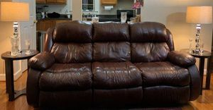 Ashley Leather Sofa for Sale in Arlington, VA