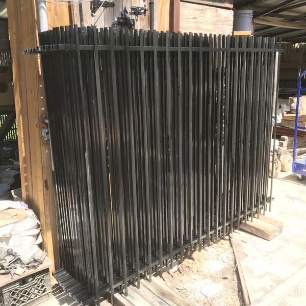 Iron Fence Panels >> Iron Fence Panels 6x8 Galvanize Powder Coated Black For Sale In