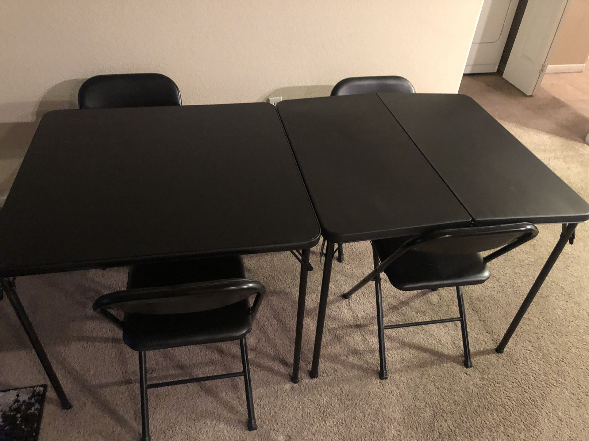 2 Portable Tables + 4 chairs (Great Value!)