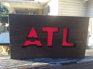 ATL Wood Sign w/hanger or magnets for Sale in Birmingham, AL