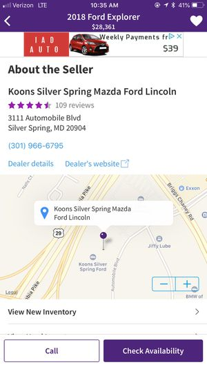 2018 Ford Explorer for Sale in Silver Spring, MD