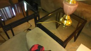 Three pieces endtables glass table for Sale in Pittsburgh, PA