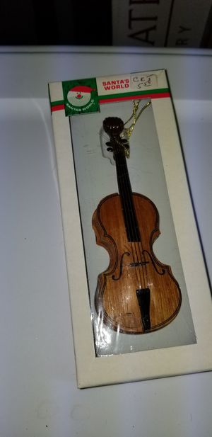 Wooden violin Christmas ornament for Sale in Gainesville, VA