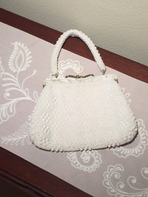 Vintage 1950's Ivory Beaded Purse for Sale in Herndon, VA