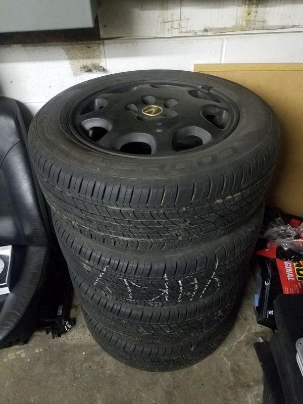 Tires w/Acura Wheels 215/60R16 (Auto Parts) in Spokane, WA - OfferUp