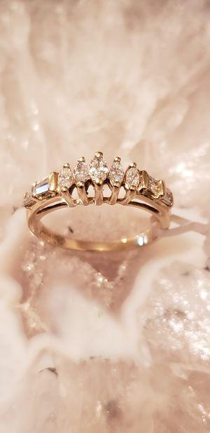 Photo 14 k diamond ring