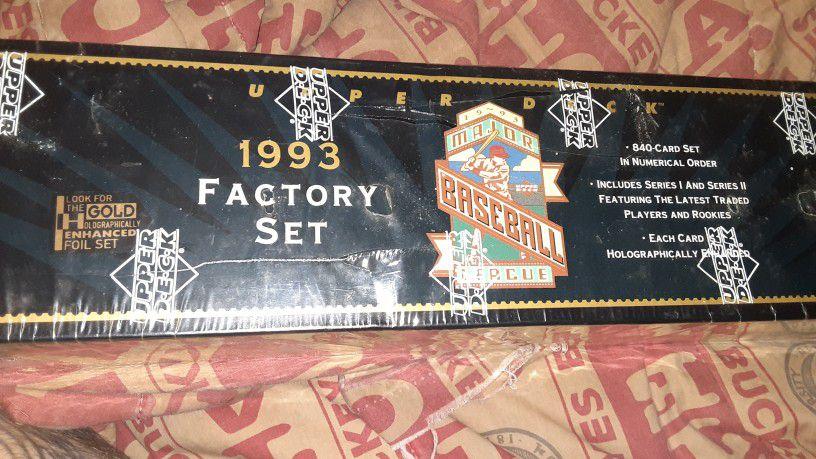 Full Set Upper Deck 1993 Baseball Cards Unopened