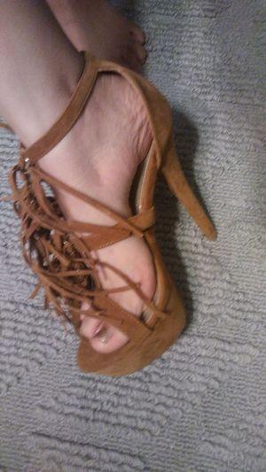 d1852d2f6 Brown fringe style heels for Sale in Fort Pierce