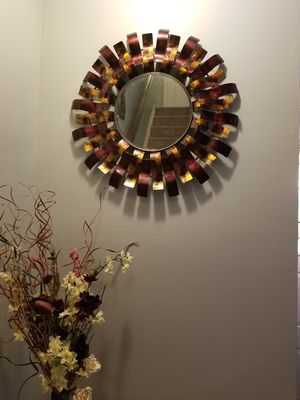 Large wall hanging decor mirror for Sale in Sterling, VA
